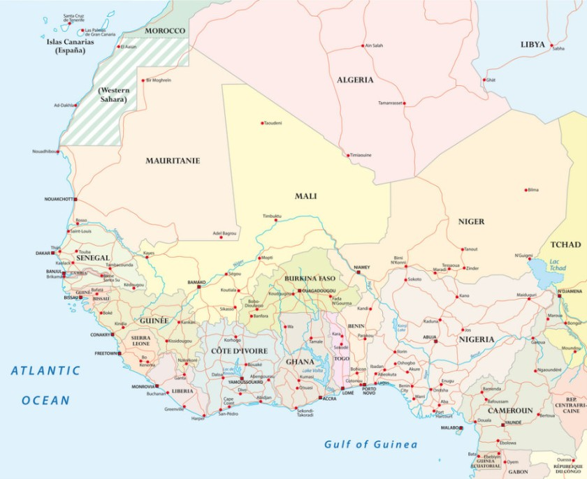 Map of West Africa 1