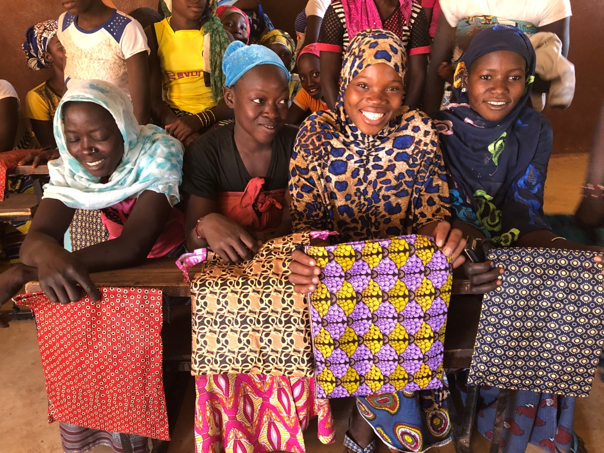 Days for Girls Kits Distributed in Fajiabougou