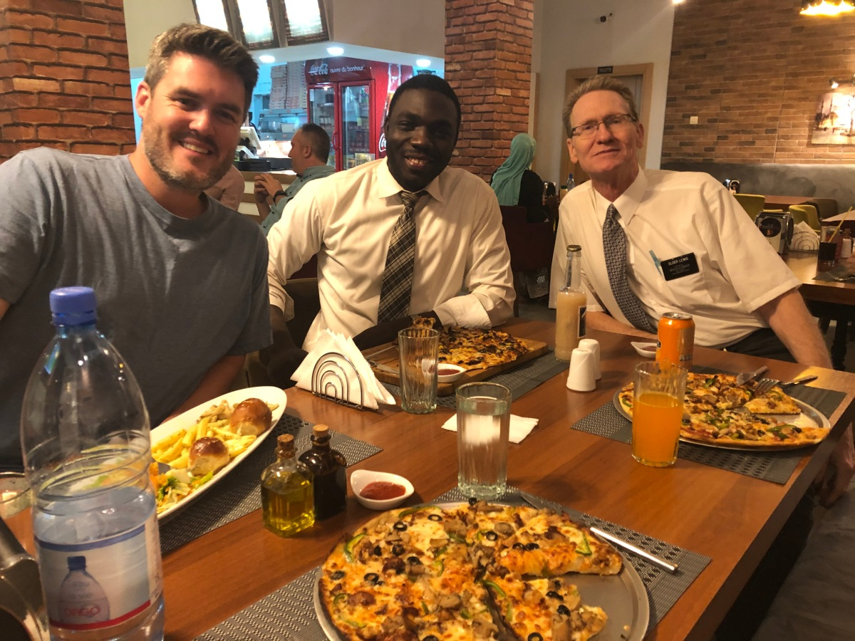 Dinner with Mike Maughan andSekou