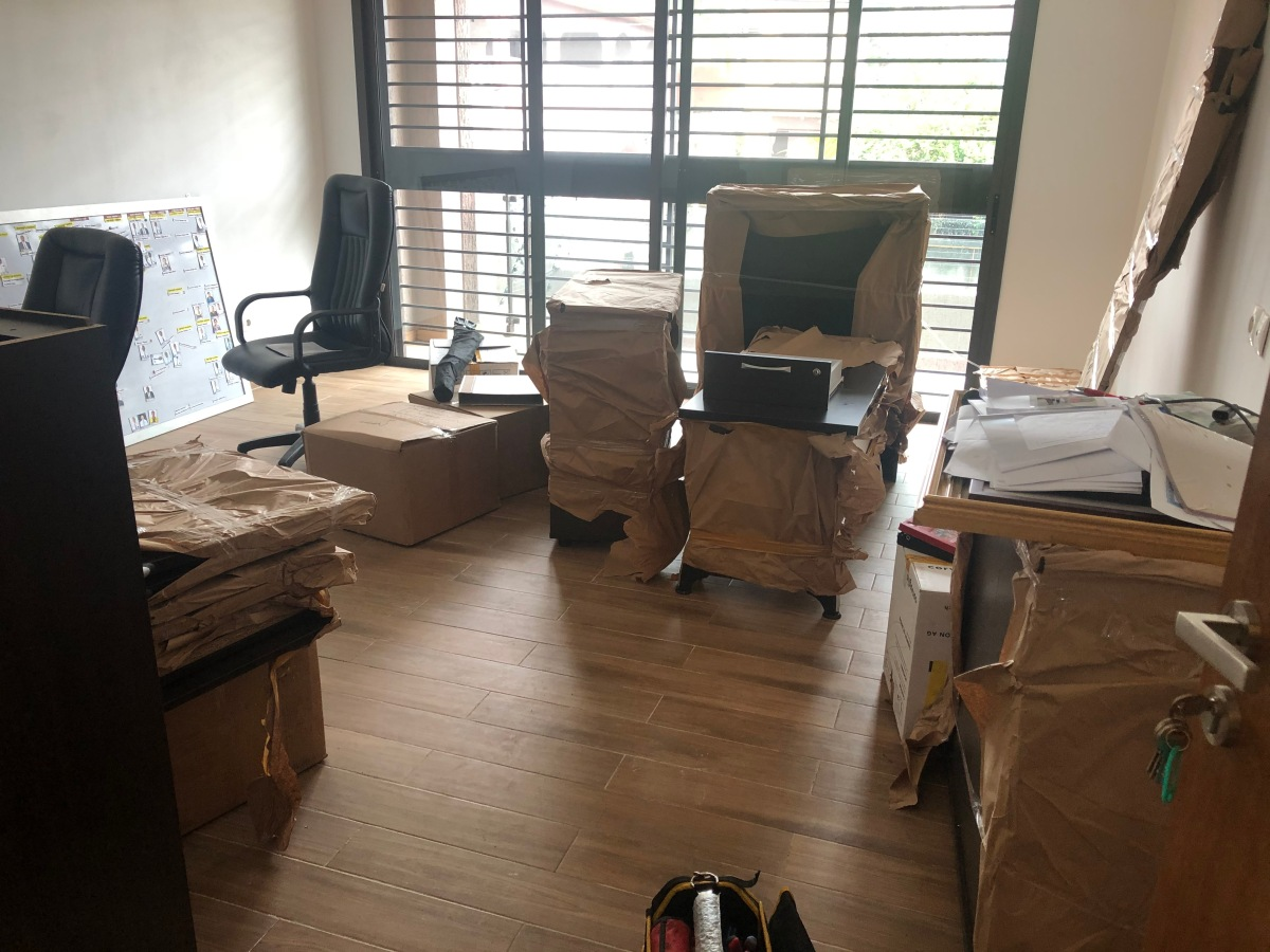 Moving into the New Office